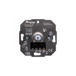Kopp 844500001 Variateur encastré Adapté pour: Ampoule électrique, Lampe halogène, Lampe LED