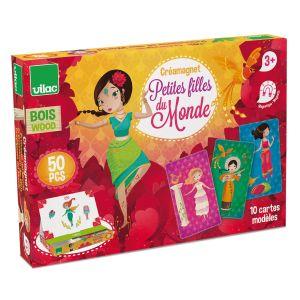 Vilac Créa-magnets : Petites filles du monde