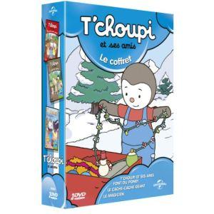Coffret T'choupi et ses amis - Cache-cache géant + T'choupi et ses amis font du poney + T'choupi magicien