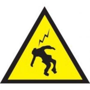 Taliaplast 629943 - Danger haute tension 100x100x100 adhesif
