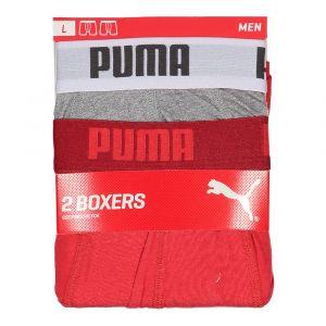 Puma Vêtements intérieurs -underwear Basic Boxer 2 Pack - Red - Taille XL