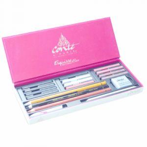 Conté à paris 50126 Coffret d'Esquisse 12 Carrés Assortis + 3 Crayons Assortis + Accessoires