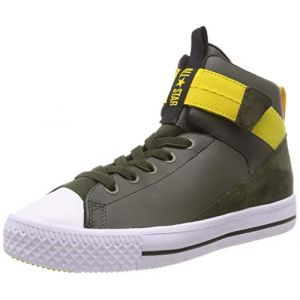 Converse Chuck Taylor All Star High Street Lite, Baskets Hautes Mixte Enfant, Vert (Utility Green/White 342), 33 EU