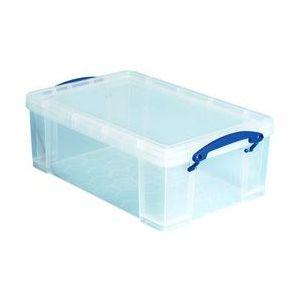 Really useful box 9C(PQ60) - Boîte de rangement en plastique 9 litres, en PP recyclé transparent