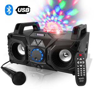 Koolstar Enceinte karaoke 200W - USB/SD/BLUETOOTH - LEDs Magic RGB + Micro Fuzzy Magic