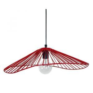 Tosel LADY Lustre - suspension filaire 50x44x13 cm rouge E27 40W