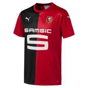 Puma Maillot Domicile Stade Rennes FC Replica pour Homme, Rouge/Noir, Taille S |