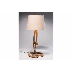 Lampe à poser Malo avec socle en corde