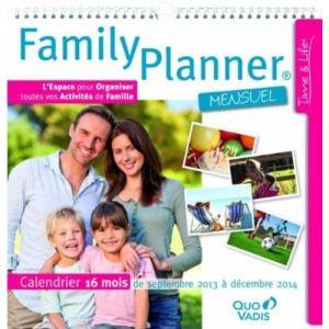 Quo Vadis Calendrier Family Planner septembre 2011 septembre 2012 (30 x 30 cm)