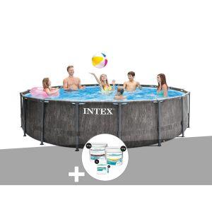 Intex Kit piscine tubulaire Baltik ronde 5,49 x 1,22 m + Kit de traitement au chlore