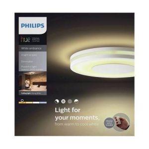 Philips 3261031P7 Being Hue Plafonnier 40W avec Télécommande