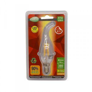 Vision-El Ampoule Led 3W (30W) COB FILAMENT E14 Flamme claire Blanc chaud