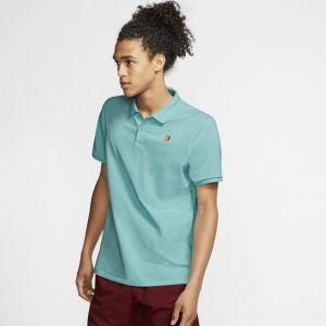 Nike Polo de tennis Court pour Homme - Bleu - Taille S