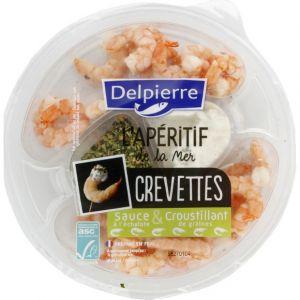 Delpierre Crevettes sauce à l'échalote & croustillant de graines