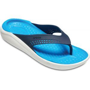 Crocs LiteRide Flip U, Chaussures de Plage & Piscine Mixte Adulte, Bleu Marine/Blanc (Navy/White 462b), 39/40 EU