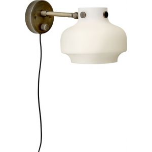 &tradition Applique en laiton avec variateur Copenhagen SC16 LED D16 cm - Blanc