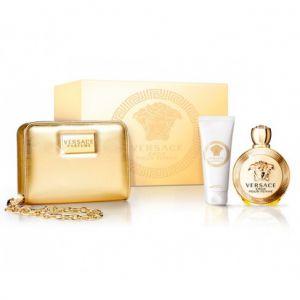 Versace Eros - Coffret eau de parfum, lait pour le corps et trousse de toilette