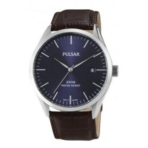 PULSAR Montre Tradition En Cuir Marron