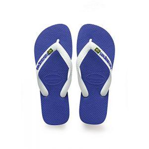 Havaianas Brasil Logo, Tongs Mixte Adulte, Bleu (Marine), 35/36 EU (33/34 Brazilian)