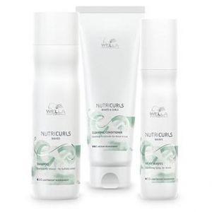 Wella Pack Nutricurls Cheveux Ondulés - Shampooing + Conditionneur Lavant + Spray