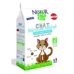 Nestor Bio Croquettes Bio Stérilisé Allégé pour Chat 2Kg