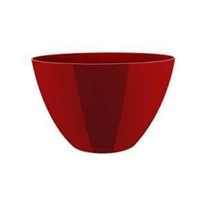 Elho 2103818 Brussels Diamond High Pot Ovale À Fleurs En Rouge 36 Cm