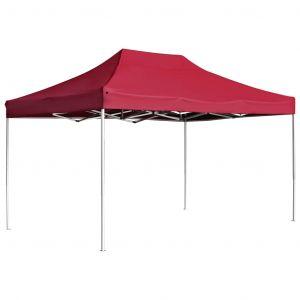 VidaXL Tente de réception pliable Aluminium 4,5x3 m Bordeaux