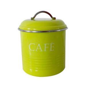 Frandis Boîte a café ronde - Métal -13 x 16,5 cm - Anis - Ronde - Métal - Anis - Assure une bonne conservation - Dimensions : Ø 13 x 16,5 cm
