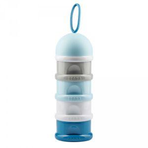Beaba Boîte doseuse de lait 4 compartiements blue édition limité
