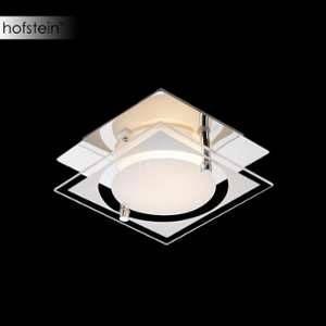 Globo Lighting Applique L12 x l12 x h7 cm - Verre satiné - Applique chrome - verre satiné translucide - LxWxH:120x120x70 - Ampoule incluse