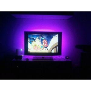 Desineo Pack rétroeclairage led pour TV 2x90 cm usb avec télécommande et contrôle musical