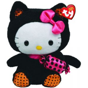 Ty Beanie Baby Hello Kitty With Cat Outfit And Candy