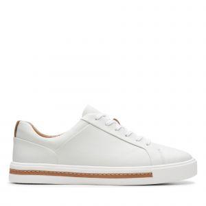 Clarks Un Maui Lace, Derbys Femme, Blanc (White Leather-), 41 EU