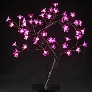 Flora - Arbre de table lumineux 48 LED roses (45 cm)