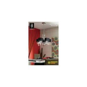 Mantra Suspension Akira 5 ampoules en chrome 40 W