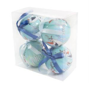 4 boules de Noël Disney Olaf
