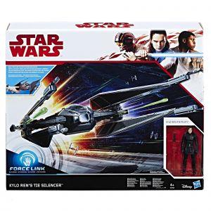 Hasbro Véhicule Star Wars Tie Silencer + Figurine Kylo Ren 10cm - Class D avec phrases et lumières