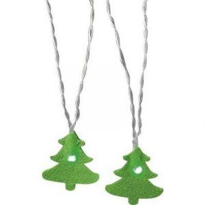 Polarlite LBA-04-001 - Guirlande lumineuse à motifs sapin de Noël LED pour l'intérieur à pile(s) vert 1.82 m