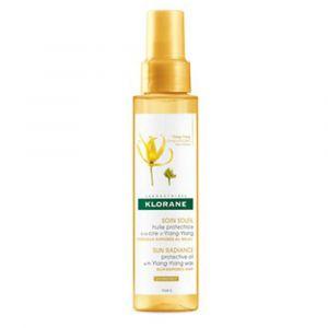 Klorane Soin soleil - Huile protectrice à la cire d%u2019Ylang-Ylang 100 ml