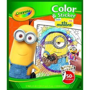 Crayola Album de coloriage avec autocollants Les Minions
