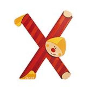 Janod Lettre clown en bois : X
