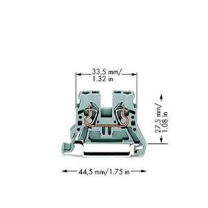 Wago 870-901 - Borne de passage pour 2 conducteurs 100 pc(s)