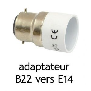 Vision El Adaptateur Culot B22 Vers E14 Comparer Avec Touslesprix Com