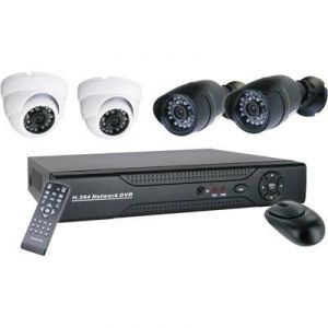 10.001.32 - Set de surveillance filaire DVR avec 4 caméras