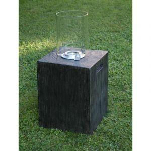 Ezeïs Tolbachik - Cheminée éthanol effet cube de bois brut L35 x l35 x H41 cm