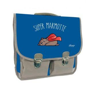 Quo Vadis 246580Q - Cartable 38 vintage à bretelles Shaman, visuel Super marmotte