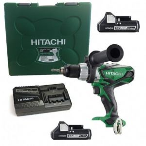 Hitachi DV18DSDL2X3AH + Coffret - Perceuse-visseuse à percussion 18V Li-Ion (2 x 3.0Ah) + Coffret de transport