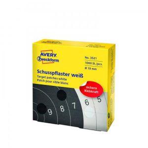Avery Zweckform 3522 étiquettes rondes pour cibles de tir 19 mm, blanc, diamètre 19 mm 1000 Pieces
