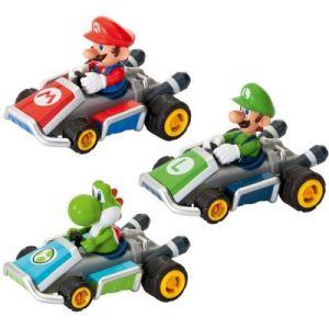 Pull and Speed Kart à friction Mario, Luigi et Yoshi
