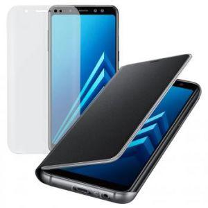 Samsung Etui Flip Neon Noir pour Galaxy A8